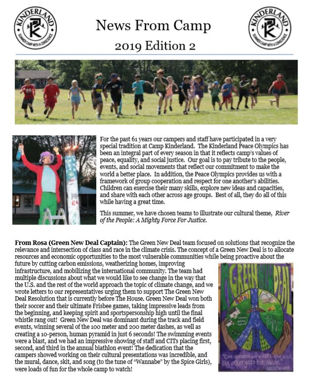 News & Announcements | Camp Kinderland